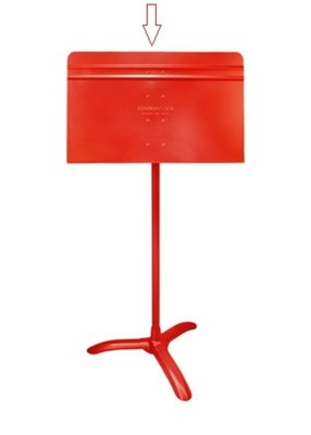 Symphony Music Stand Red Desk Only