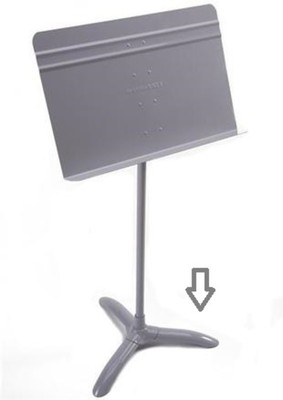 Music Stand Base Only Grey