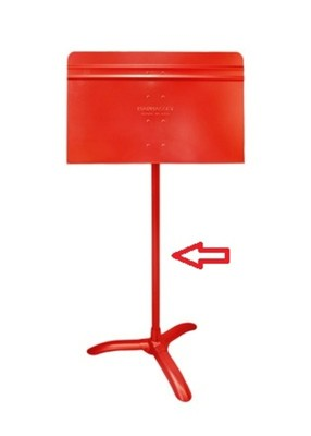 Music Stand Shaft Only Red