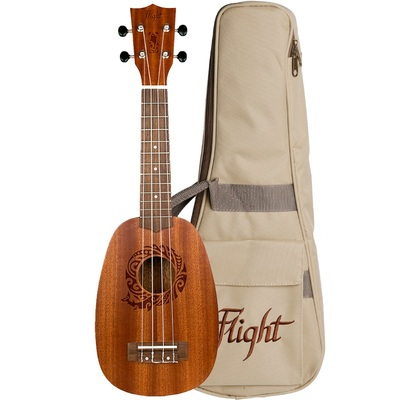 Flight NUP310 Pineapple Soprano Ukulele with Bag