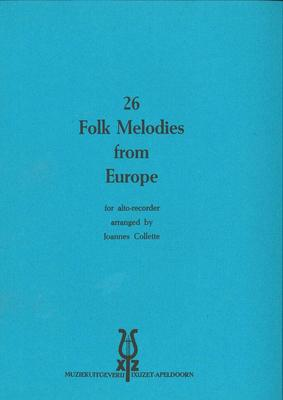 26 FOLK MELODIES FROM EUROPE TREBLE RECORDER